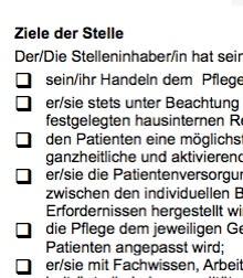 Diese Muster-Stellenbeschreibung für eine Pflegehilfskraft - ambulant ist ein Beispiel dafür, wie eine typische Interessenlage zwischen teilnehmenden Parteien umgesetzt werden kann.