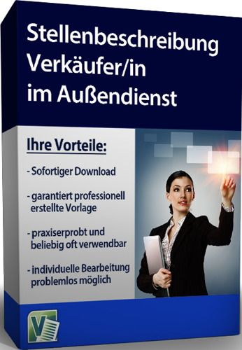Stellenbeschreibung für einen Verkäufer/in im Außendienst