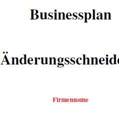 Mit dieser Vorlage können Sie einen Businessplan für eine Änderungsschneiderei erstellen.