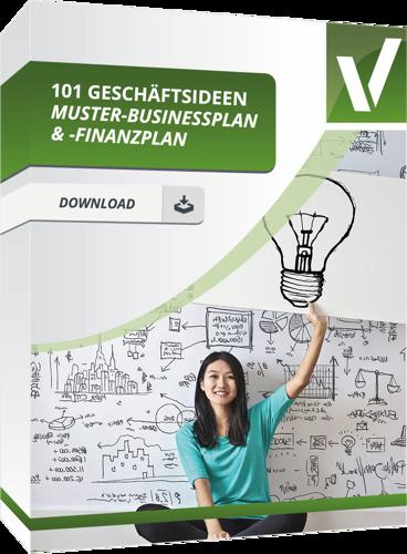 Geschäftsideen mit Muster und Finanzplan