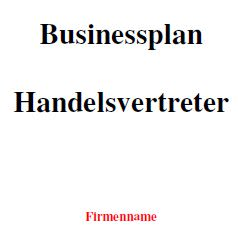 Mit dieser Vorlage können Sie einen Businessplan als Handelsvertreter erstellen.