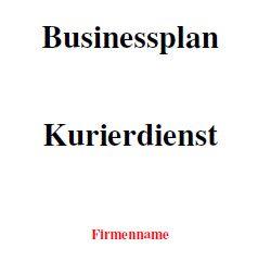 Mit dieser Vorlage können Sie einen Businessplan für einen Kurierdienst erstellen.