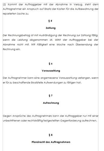 Alle notwendigen Paragraphen sind in der AGB Vorlage enthalten.