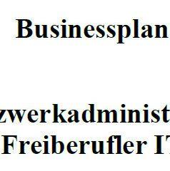 Mit dieser Vorlage können Sie einen Businessplan für Netzwerkadministrator erstellen.