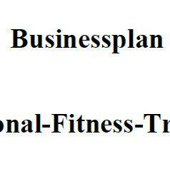 Mit dieser Vorlage können Sie einen Businessplan für Personal-Fitness-Trainer erstellen.