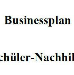 Mit dieser Vorlage können Sie einen Businessplan für Schülernachhilfe erstellen.