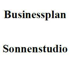 Mit dieser Vorlage können Sie einen Businessplan für ein Sonnenstudio erstellen.