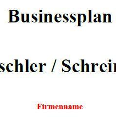 Mit dieser Vorlage können Sie einen Businessplan für Tischler erstellen.