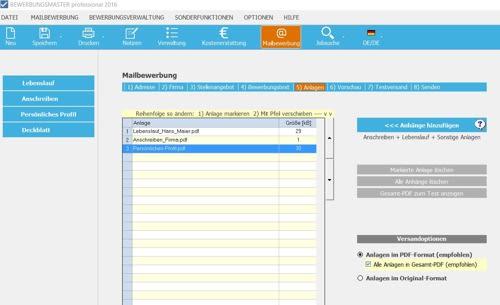 Hier bekommen Sie einen detaillierten Einblick über den Prozess der Mailbewerbung.