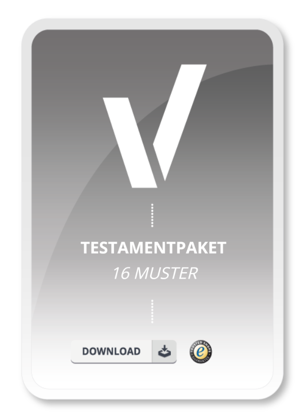 Testamentpaket 16 Muster Muster