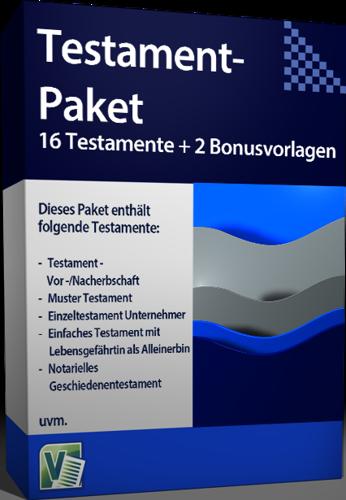 Testamentpaket Vorlagen