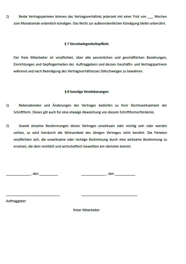 Auszug aus einem weiteren Vertrag aus dem Paket