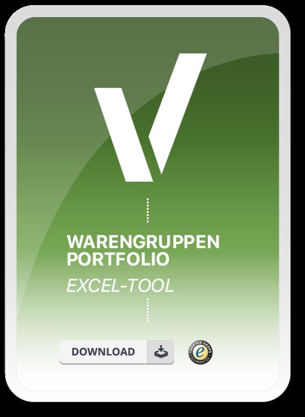 Produktbild für das Excel Tool Warengruppen Portfolio