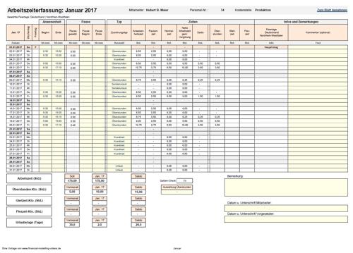 Excel-Matrix. Ansicht komplette Matrix