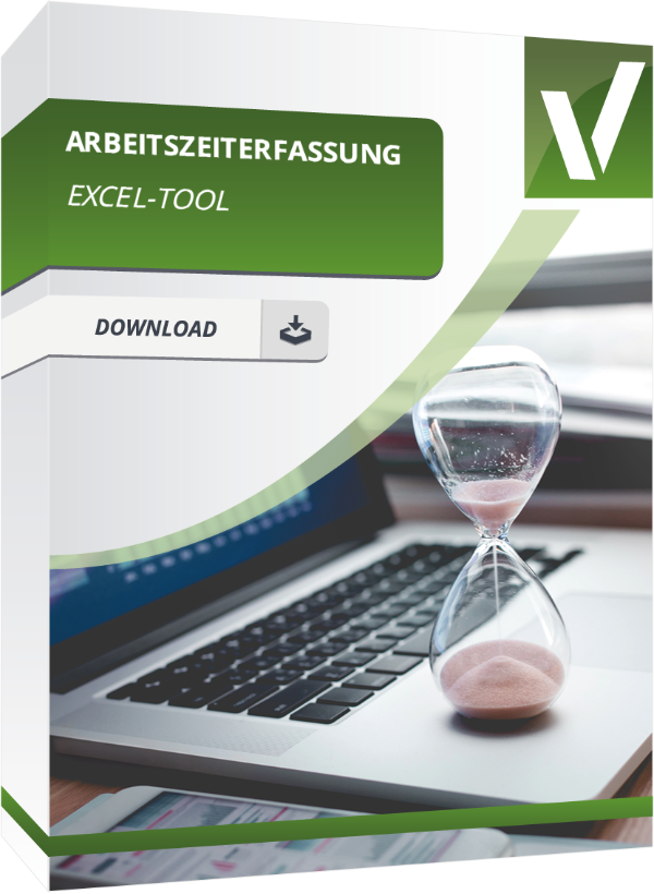 Produktbox für die Excel Arbeitszeiterfassung und den Tätigkeitsnachweis