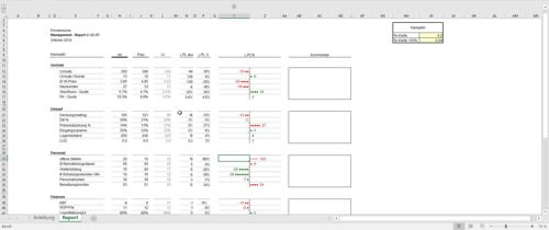 Management Report in Excel