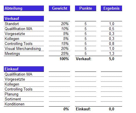 Screenshot der Unternehmensanalyse Excel Datei