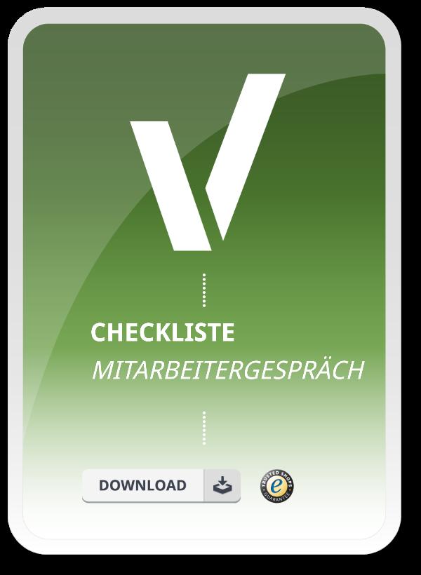 Produktbild für die Checkliste Mitarbeitegespraech