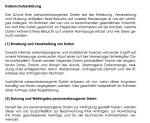 Auszug aus der Muster-Datenschutzerklärung für einen Internet-Shop (Online-Verkauf).