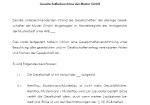 Auszug aus dem Muster eines Liquidationsbeschlusses einer GmbH.
