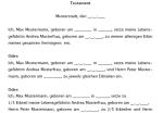 Einblick in das Muster für ein Testament (Vor- und Nacherbschaft).