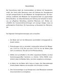 Auszug aus der Hausordnung eines Vermieters.