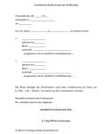 Einblick in den Grundstückskaufvertrag mit Auflassung. Erste Seite.