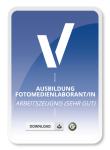 Arbeitszeugnis (sehr gut) für Ausbildung Fotomedienlaborant/in