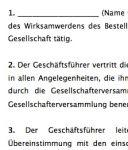 Die Vorlage beinhaltet einen Geschäftsführervertrag mit einer Unternehmergesellschaft bzw. Mini-GmbH.