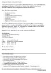 Einblick in der Übersichtsseite mit der inhaltlichen Auflistung der Vorlagen
