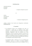 Erste Seite des Dienstleistungsvertrages für Aufräumarbeiten.