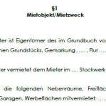 Mietobjekt bzw. Mietzweck des Gewerbemietvertrags bei unbebautem Mietobjekt.