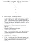 Einblick in die erste Seite der Vereinbarung