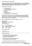 Einblick in die Übersichtsseite mit der inhaltichen Auflistung der Vorlagen