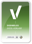 Produktbild für die Excel Vorlage Eigenbeleg