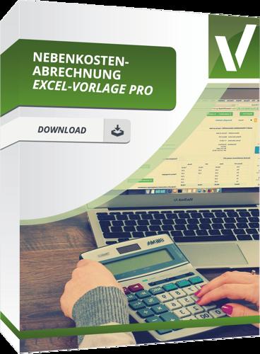 Nebenkostenabrechnung Excel-Vorlage Pro