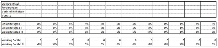Excel-Unternehmensplanung