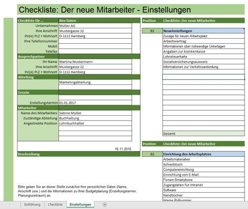 Checkliste zur Einstellung neuer Mitarbeiter