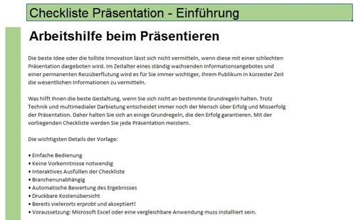 Checkliste: Präsentation