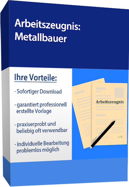 Zwischenzeugnis (gut) - Metallbauer