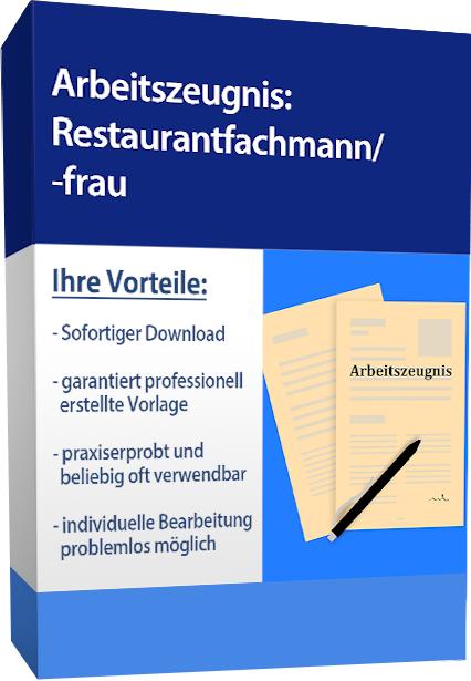 Zwischenzeugnis (sehr gut) - Restaurantfachfrau
