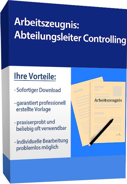 Arbeitszeugnis (befriedigend) - Abteilungsleiter Controlling