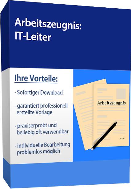 Zwischenzeugnis (gut) - IT-Leiter