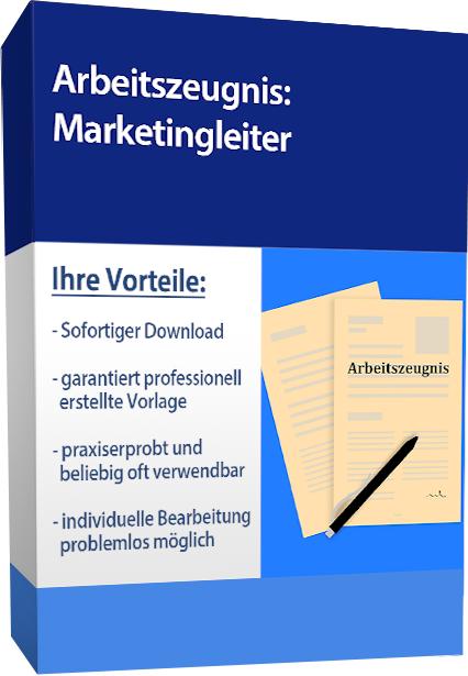 Arbeitszeugnis (gut) - Marketingleiter