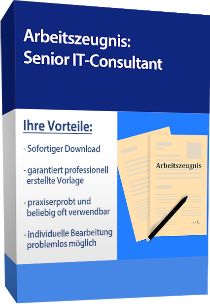 Arbeitszeugnis (sehr gut) - Senior IT-Consultant
