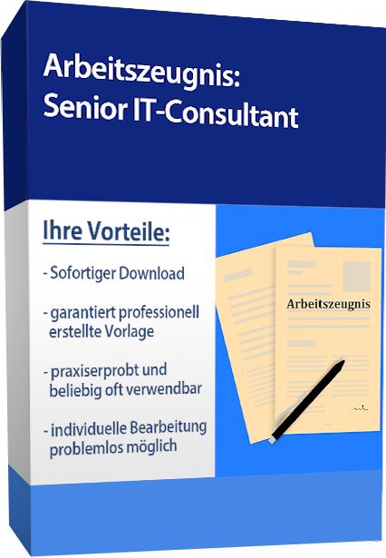 Zwischenzeugnis (sehr gut) - Senior IT-Consultant