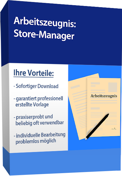 Zwischenzeugnis (sehr gut) - Store-Manager