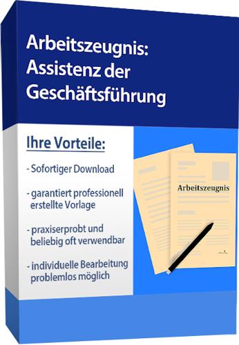 Arbeitszeugnis (gut) - Assistentin der Geschäftsführung (englisch)