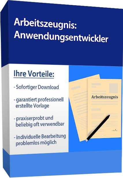 Zwischenzeugnis (befriedigend) - Anwendungsentwickler (englisch)