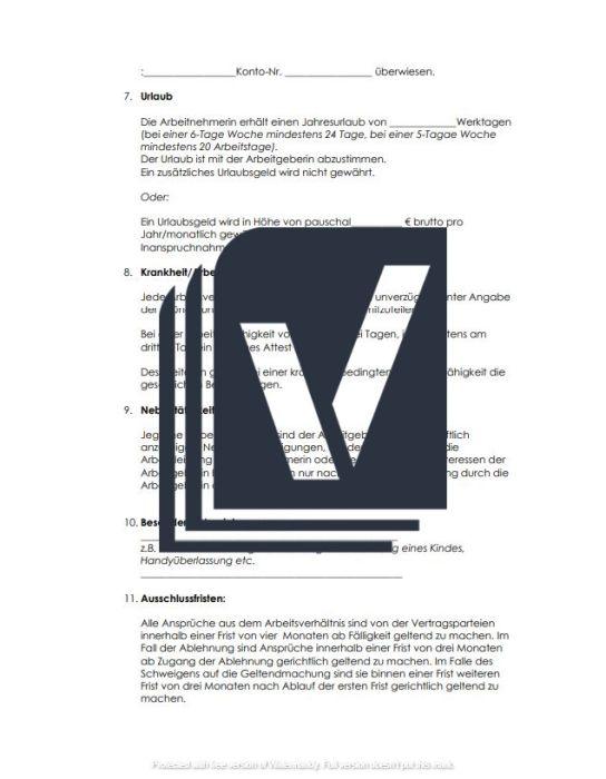 Arbeitsvertrag – Friseur/Friseurin